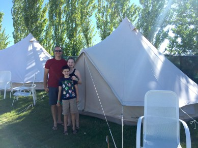 Family Camping At The Gorge Amphitheater in Washington