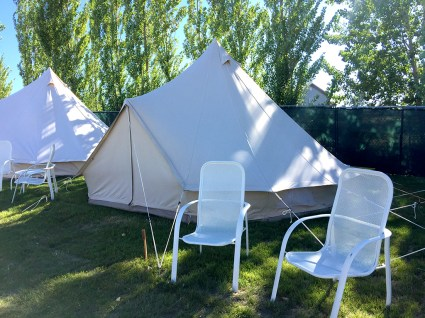 Gorge Oasis Campground Provides Luxury Canvas Tents with Electricity