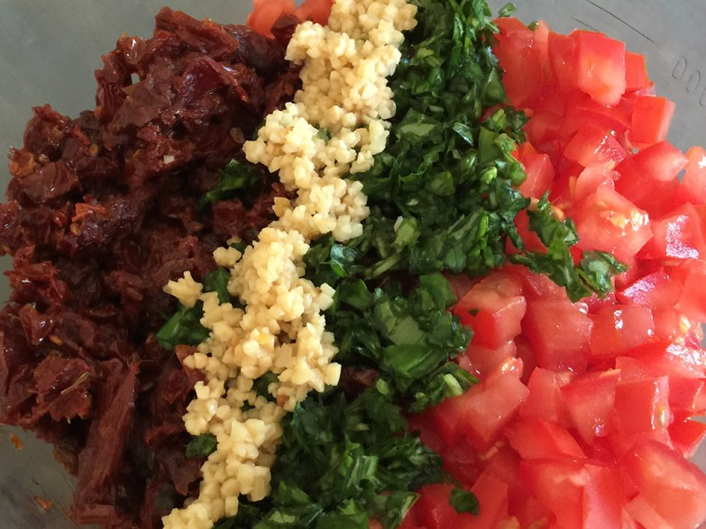 Double Tomato Bruschetta Appetizer Recipe Ingredients