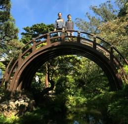 Wooden Moon Bridge at San Francisco's Japanese Tea Garden