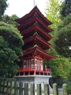 Treasure Tower Pagoda at the Japanese Tea Gardens in Golden gate Park