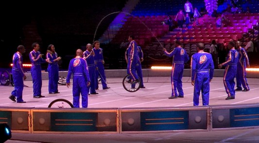 Jump Roping Unicyclists