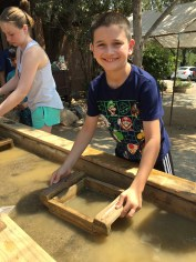 Kids Gem Panning At Moaning Cavern in Calaveras County