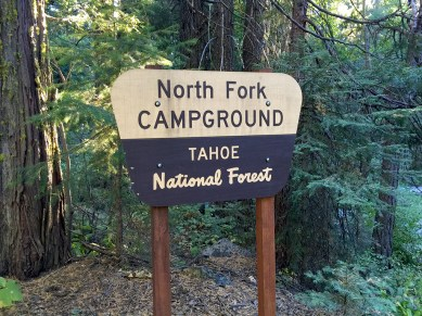 The North Fork Campground In The Tahoe National Forest