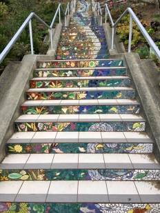 16th Avenue Tiled Steps Garden and River Theme