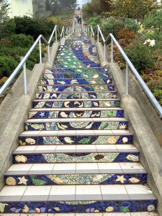 San Francisco 16th Avenue Tiled Steps Ocean and River Theme Mosaic