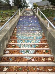 San Francisco 16th Avenue Tiled Steps Space Theme Mosaic