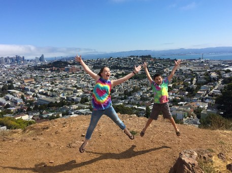 Family Hike in San Francisco's Bernal Heights