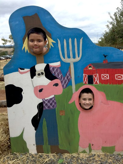 Farm Themed Photo Stations for Families at Mill View Ranch