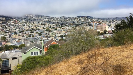 Urban Hiking to Top of Bernal Hill, San Francisco