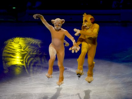 Nala and Simba from The Lion King in Disney On Ice Passport to Adventure