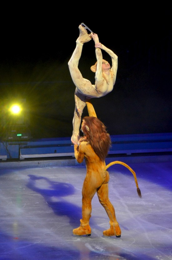 Simba and Nala Simba and Pumba from The Lion King in Disney On Ice Passport to Adventure