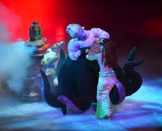 Ursula and Ariel in The Little Mermaid For Disney On Ice
