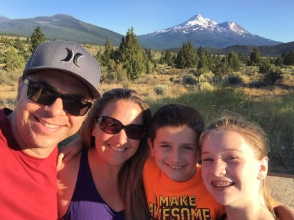 Bourn Family Road Trip I-% Vista Point of Mount Shasta