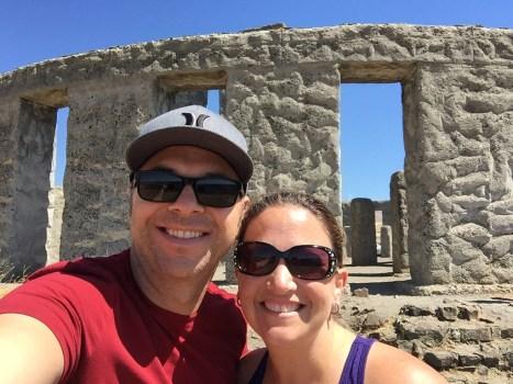 Brian and Jennifer Bourn at the Stonehenge Replica