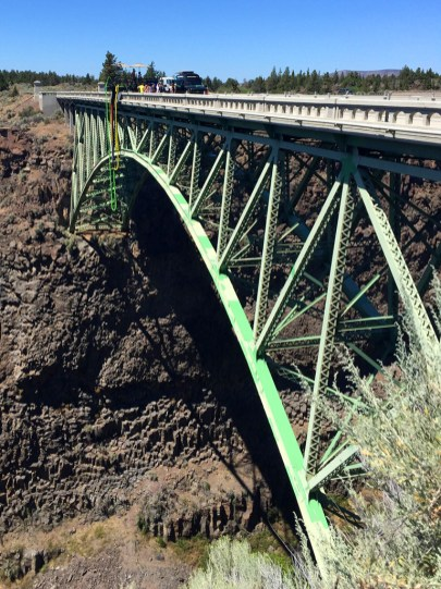 Crooked River Bridge over the Crooked River Canyon in Oregon