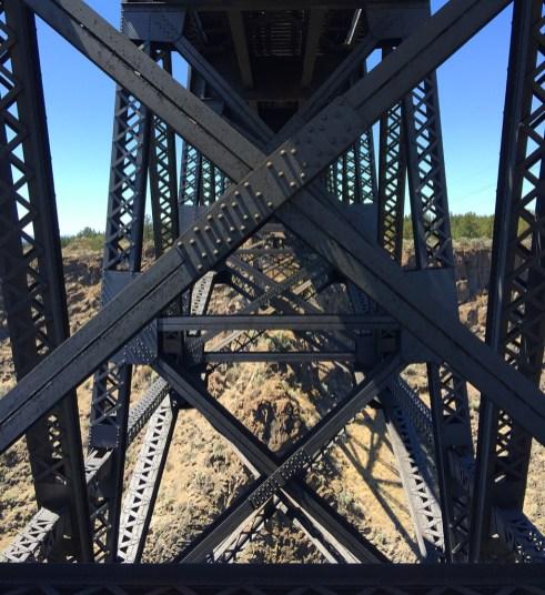 View Under Trunk Railroad Bridge