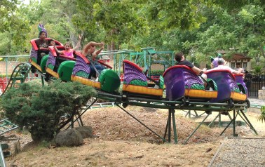 Riding the Flying Dragon Coaster at Funderland