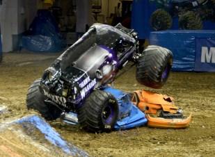 Mohawk Warrior Monster Jam Truck Crushing Cars