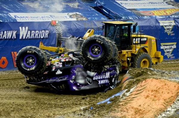 MoHawk Warrior Monster Jam Monster Truck SMoking Crash