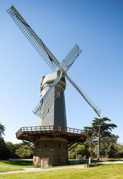 The Murphy Windmill in Golden Gate Park, San Francisco