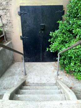 Door into the Dutch Windmill in San Francisco