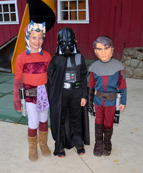 Darth Vader, Ahsoka Tano, and Anakin Skywalker
