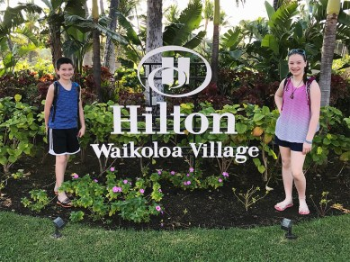 Family esort Vacation at the Hilton Waikoloa on the Big Island of Hawaii