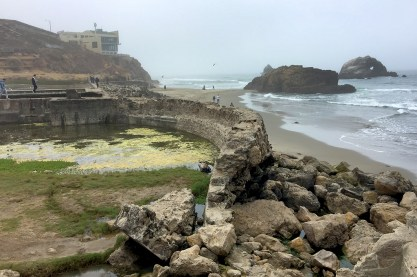 Ols Sutro Baths Ruins in the Lands End Area of the San Francisco Outer Richmond District