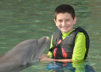 Carter Bourn Meeting a Dolphin