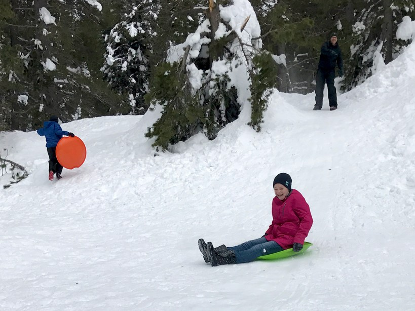 Cheap Sledding at Donner Summit Sno-Park