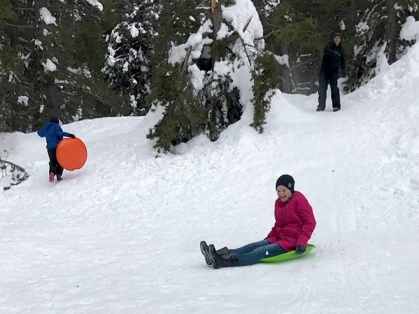 Cheap Sledding at Donner Summit Sno-Park
