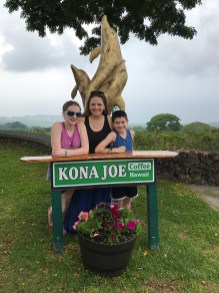 Family Visit to Kona Joe Coffee Farm