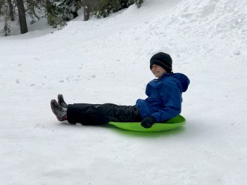 Inexpensive PLace to Take Kids Sledding off I-80