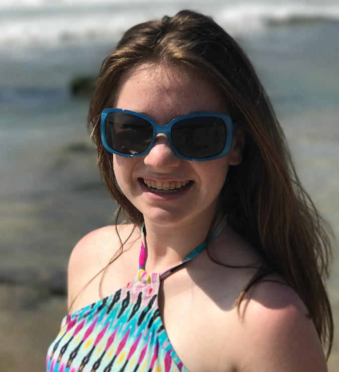 Natalie Bourn at Hapuna Beach