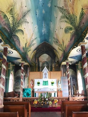 Saint Benedict's Painted Church in Honaunau, Hawaii
