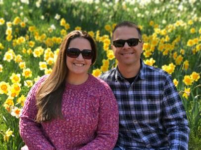 Jennifer and Brian Bourn at Daffodil Hill