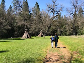 Reconstructed Miwok Village