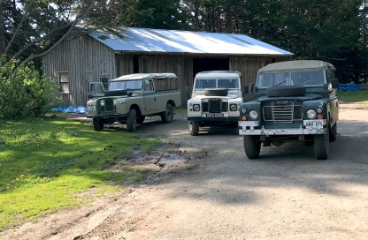 B Bryan Preserve Vintage Open Air Land Rovers