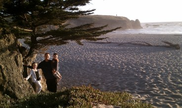 Visiting Pudding Creek Beach in Fort Bragg in 2010