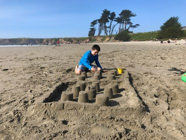 Building Sandcastles at Pudding Creek Beach