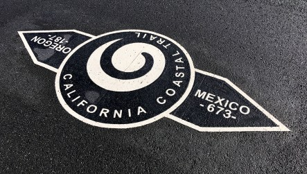 California Coastal Trail Marker in Noyo Headlands Park