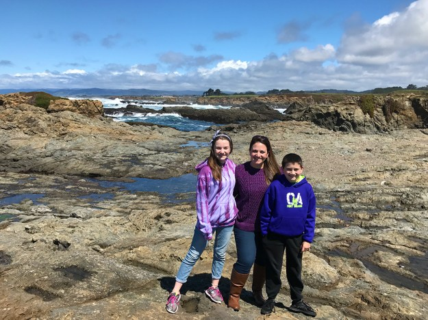 Natalie, Jennifer, And Carter Bourn at Glass Beach