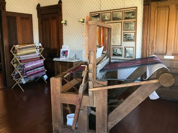 Weaving Loom Exhibit at The Fort Bragg Guest House Museum