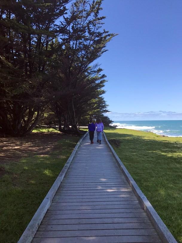 Natalie and Carter Bourn Walking the Laguna Point Boardwalk at MacKerricher State Park