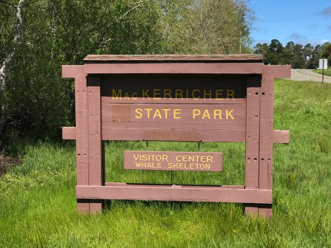 MacKerricher State Park Entrance Sign