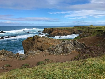Views of the Pacific Ocean From The Noyo Headlands Coastal Trail in Fort Bragg