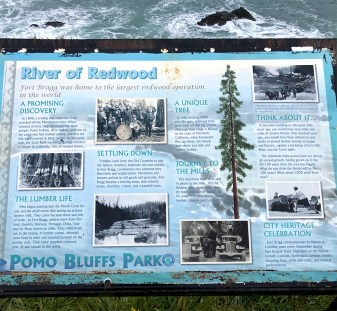 Interpretive DIsplay at Pomo Bluffs Park