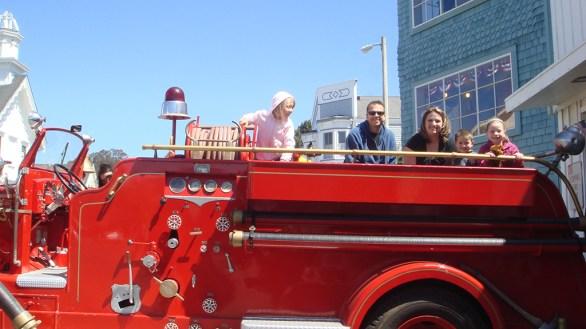Family Fire Truck Rides In Mendocino, California