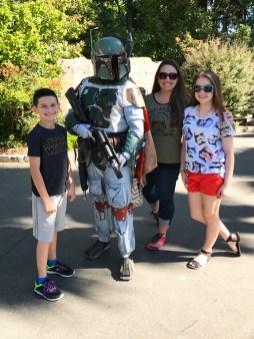 Boba Fett at Sacramento Zoo Star Wars Day